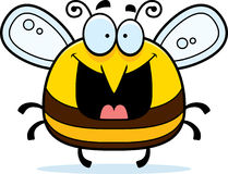 Happy Little Bee. A cartoon illustration of a bee looking happy royalty free illustration