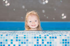 Happy little blond girl Royalty Free Stock Photography