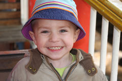 Happy  little boy. On the playground Stock Photography