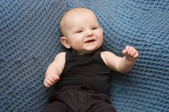 Happy little boy. Cute little baby boy laughing Stock Photos