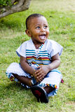 Happy little boy. Having fun with his family Stock Photo