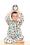 Happy little boy bedtime concept Royalty Free Stock Photography