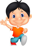 Happy little boy cartoon Stock Image