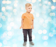Happy little boy in casual clothes Stock Images