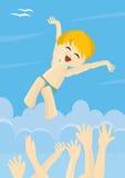 Happy little boy enjoying life Royalty Free Stock Image