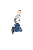 Happy little boy in flight Stock Photography