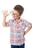 Happy little boy in glasses Stock Photography