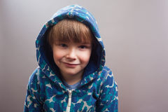 Happy Little Boy with Hoody Royalty Free Stock Photos