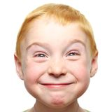 Happy little boy isolated Stock Photos