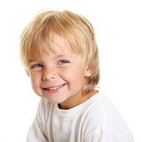 Happy little boy isolated Stock Images