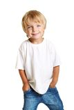 Happy little boy isolated Royalty Free Stock Photo