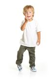 Happy little boy isolated Royalty Free Stock Photos