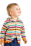 Happy little boy,  isolated white background Royalty Free Stock Photos
