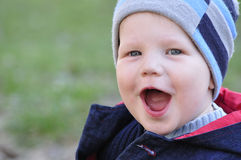 Happy little boy laugh Royalty Free Stock Photo