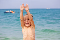Happy little boy Royalty Free Stock Photos