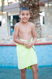 Happy little boy at the pool Royalty Free Stock Photography