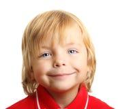 Happy little boy portrait isolated Royalty Free Stock Photo