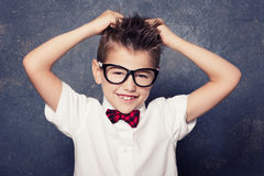 Happy little boy posing. Royalty Free Stock Images