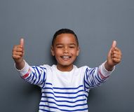 Happy little boy showing thumbs up Royalty Free Stock Photo