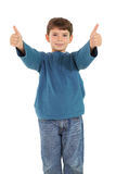 Happy little boy showing thumbs up Stock Photography