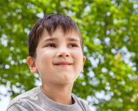 Happy little boy smiling Stock Image
