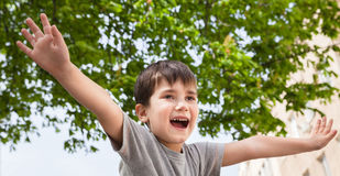 Happy little boy smiling Royalty Free Stock Image