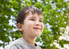 Happy little boy smiling Royalty Free Stock Images