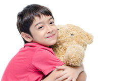 Happy little boy smiling  portrait isolate Royalty Free Stock Photography