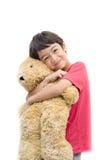 Happy little boy smiling  portrait isolate Stock Image