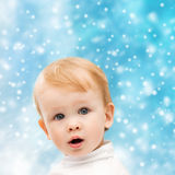 Happy little boy in winter clothes Stock Photography