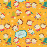 Happy little boys and girls pattern Stock Photo