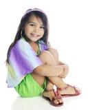 Happy Little Brunette Stock Photography