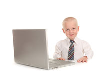 Happy Little Business Prodigy Stock Image