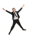 Happy little businessman. Royalty Free Stock Photos