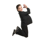 Happy little businessman. Royalty Free Stock Images