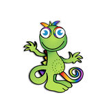 Happy little cameleon Stock Photo