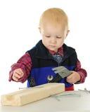 Happy Little Carpenter Stock Image