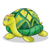 Happy little cartoon turtle smiling vector. Illustration Stock Images