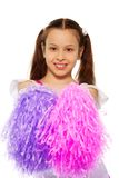 Happy little cheerleader Stock Photos