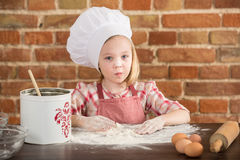 Happy little chef in the kitchen Stock Photo
