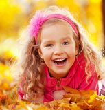 Little child at autumn Royalty Free Stock Photography