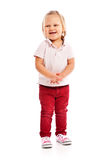 Happy little child posing in studio royalty free stock photography