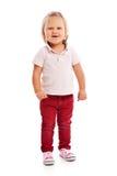 Happy little child posing in studio Stock Image