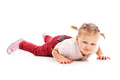 Happy little child posing in studio Royalty Free Stock Images