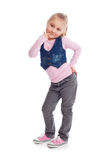 Happy little child posing in studio Stock Photos