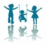 Happy little children Stock Images