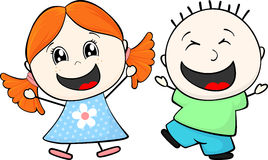 Happy little children Royalty Free Stock Images