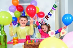 Big funny birthday party Stock Images