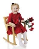 Happy Little Christmas Rocker Stock Photography