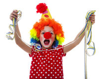 Happy little clown Stock Image